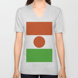 Niger flag emblem Unisex V-Neck