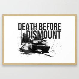 Death Before Dismount Framed Art Print