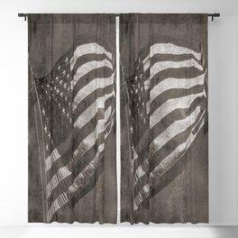 American Flag Vintage Blackout Curtain