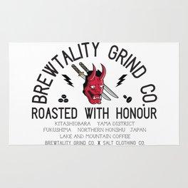 Brewtality Grind Co. X Salt Clothing Co. Samurai Design Rug
