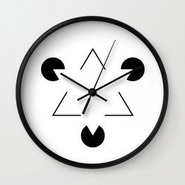 Kanizsa triangle Wall Clock