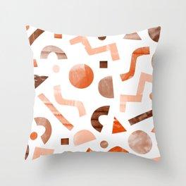 geometric shapes peach Throw Pillow