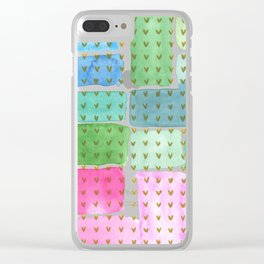 Abstract with holden hearts Clear iPhone Case