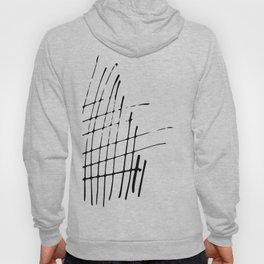 Grid Sketch Black and White Hoody