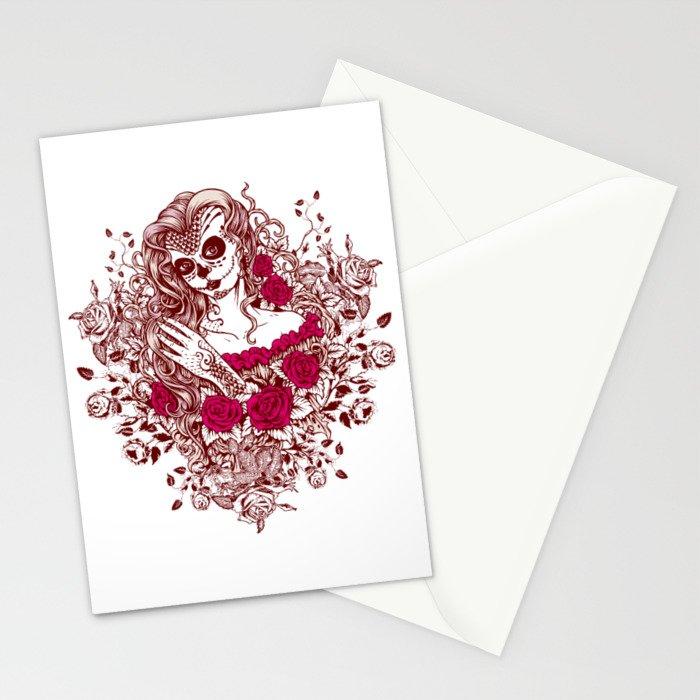 Sexy Woman zombie WITH Flower - Razzmatazz Stationery Cards