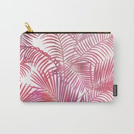 Pastel pink gradient  modern watercolor tropical palm trees pattern Carry-All Pouch