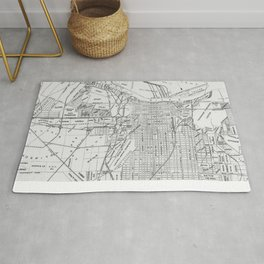 Vintage Map of Savannah Georgia (1910) Rug