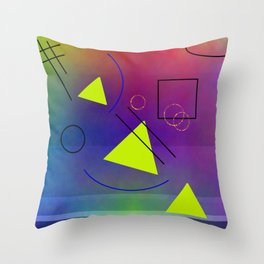 Little geometry science Throw Pillow
