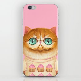 Cupcake Cat iPhone Skin