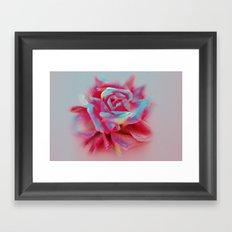 NEON ROSE Framed Art Print