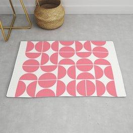 Mid Century Modern Geometric 04 Pink Rug