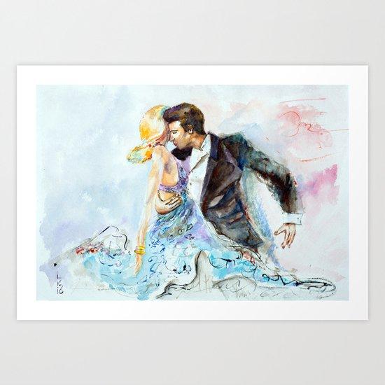 passion dance Art Print