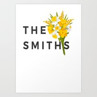 the smiths Art Prints featuring SMITHS by priscilawho