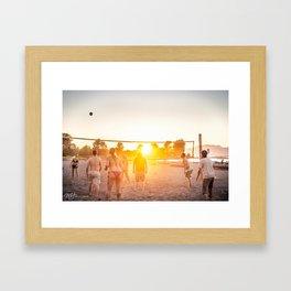 Sunset Volleyball Framed Art Print
