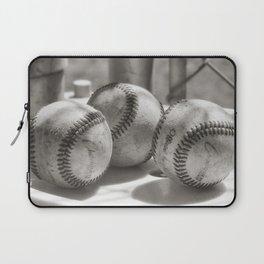 3 Baseballs on a Bucket in Sepia Laptop Sleeve