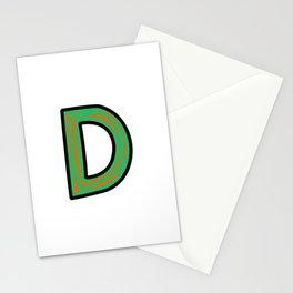 Uppercase Letter D Doodle Stationery Cards