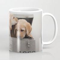 labrador Mugs featuring Labrador Puppy by Diandra