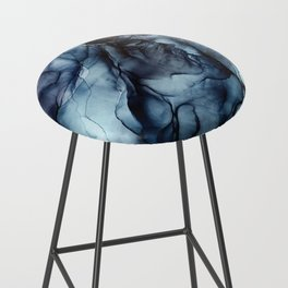 Blush and Darkness Abstract Paintings Bar Stool