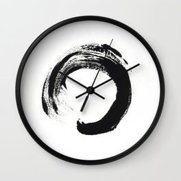 Zen Circle Black and White Print Wall Clock