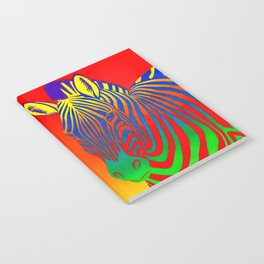 Colorful Psychedelic Rainbow Zebra Notebook