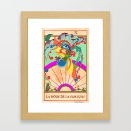 Tarot Card-The Wheel of Fortune-La Roue de la Fortune Framed Art Print