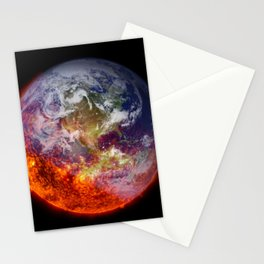 Global Warming Climate Change Stationery Cards