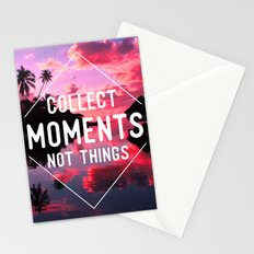 Collect moments not thing Stationery Cards