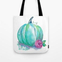 Aqua Pumpkin Tote Bag