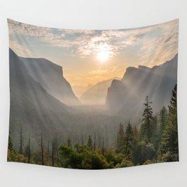 Morning Yosemite Landscape Wall Tapestry