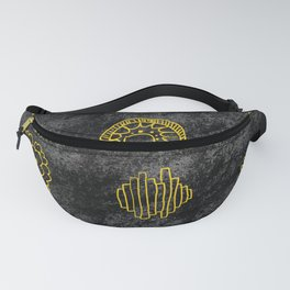 YELLOW FLORAL DODDLE ON BLACK Fanny Pack