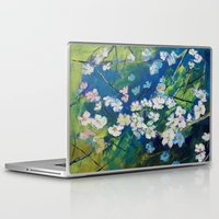 cherry blossoms Laptop & iPad Skins featuring Cherry Blossoms by Michael Creese