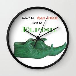 Elf Quotation Wall Clock
