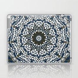 BLUE, GREY AND WHITE MANDALA  Laptop & iPad Skin