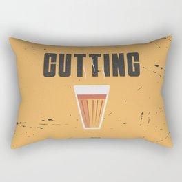 Funny Cutting Chai Tea Hindi Quote Rectangular Pillow