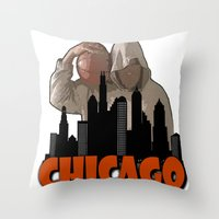 sports Throw Pillows featuring CHICAGO SPORTS  by Robleedesigns