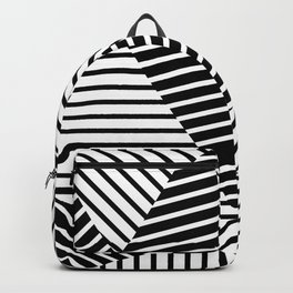 Abstract Striped Triangles Backpack