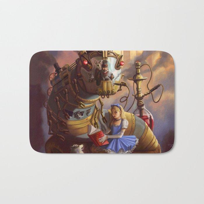 Sandra's Steampunk Alice in Wonderland Bath Mat
