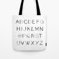 font Tote Bags featuring Craft Font by neuprouns