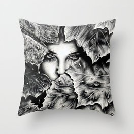 Veiled Shadow Throw Pillow