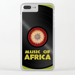 Vinyl record. Music of Africa Clear iPhone Case