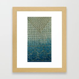Faded Indigo Assuit Framed Art Print