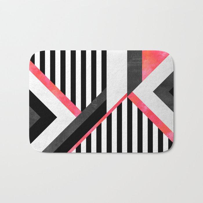 Stripe Combination / Pink Bath Mat