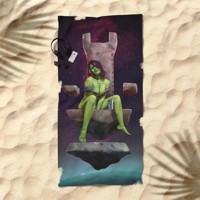 Gamora of Thrones Beach Towel