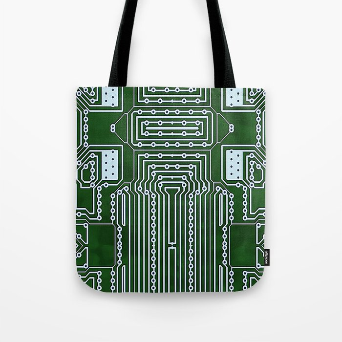 Computer Geek Circuit Board Pattern Tote Bag