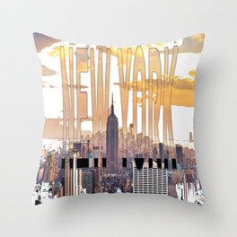 New York City Scape Throw Pillow