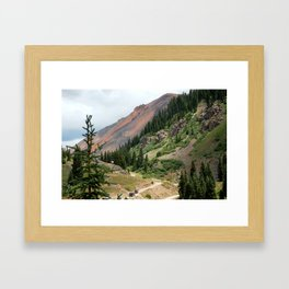 Road to the Longfellow Mine, elevation 11,080 feet Framed Art Print