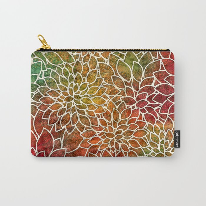 Floral Abstract 15 Carry-All Pouch