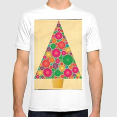 Merry Christmas! Christmas Bubble Tree White MEDIUM Mens Fitted Tee