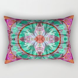 Firebird Eye of the Sky Mandala Rectangular Pillow