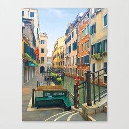 Gondola Boarding Canvas Print